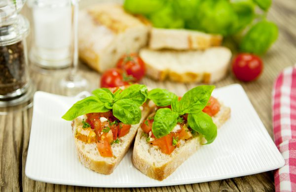Original italienische Bruschetta - Gesund, lecker, preiswert und schnell zubereitet